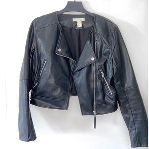 H&M Black Motto Leather Jacket